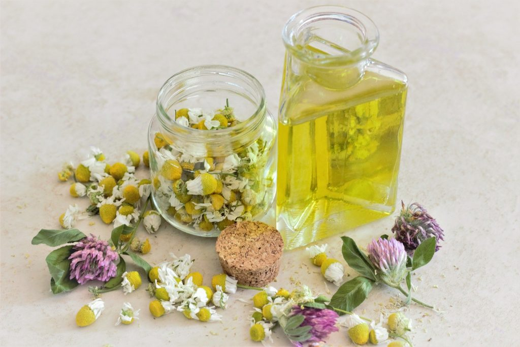 Chamomile essential oil is used in aromatherapy since it promotes sleep, relieves anxiety and helps with digestive problems